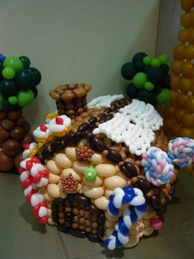 バルーンのお菓子の家